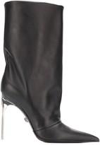 Versace mid-calf stiletto boots