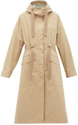 Moncler Moutarde Cotton-blend Hooded Coat - Womens - Camel