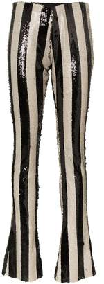 Marques Almeida Marques'Almeida stripe embellished sequin trousers