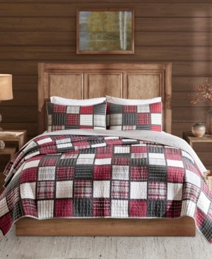 Woolrich Tulsa King/California King 3 Piece Oversized Plaid Print Cotton Reversible Quilt Set