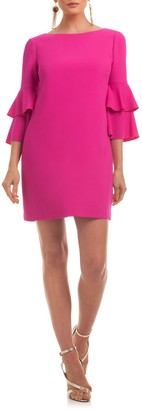 Trina Turk Leona 3/4 Ruffle Tiered Sleeve Dress