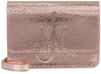 J.W.Anderson Anchor Logo Metallic Leather Shoulder Bag