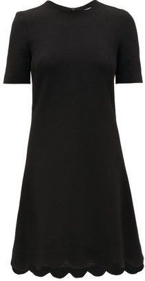 Goat Jolie Scalloped-hem Wool-crepe Dress - Black