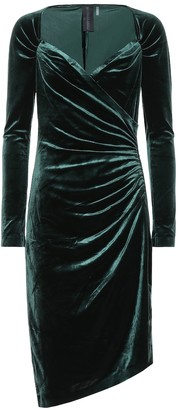 Norma Kamali Asymmetric velvet dress