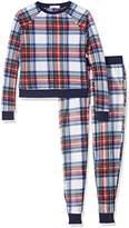 New Look 915 Girl's Fleece Festive Check Pyjama Sets