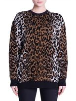 Stella McCartney Knit Cheetah Jacquard Sweatshirt