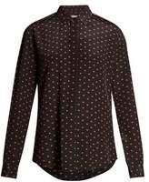 Saint Laurent Heart-print silk shirt