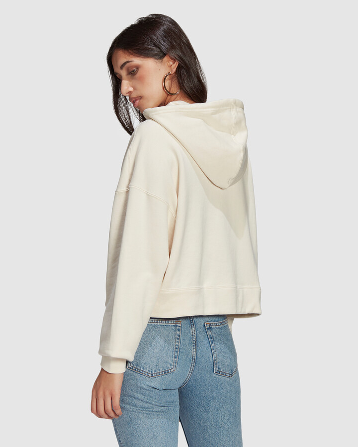 Thumbnail for your product : adidas Women's White Hoodies - Adicolor Essentials Hoodie - Size One Size, 12 at The Iconic
