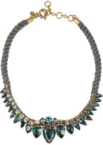 J.Crew Gold-tone crystal rope necklace