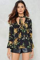 Nasty Gal nastygal Leaf It at That Floral Top