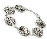 Les Trésors De Lily Steel bracelet 'Chorégraphie' silver.