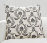 Pottery Barn Floral Vine Embroidered Pillow Cover