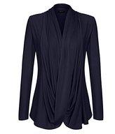 ACEVOG Women's Criss Cross Front Blouses Poncho Blouse Shirt Pullover Cardigans