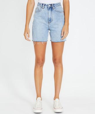 Insight Brooke West Coast Denim Shorts Thrift Blue