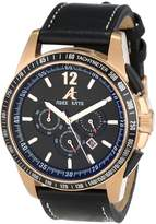Adee Kaye Men's AK7141-MRG BLACK Ak7141-Mrg/Bk Artfully Designed Dial Protected With A Durable Mineral Crystal Watch