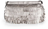 Thumbnail for your product : Milly Nikki Metallic Leather Fringe Convertible Clutch