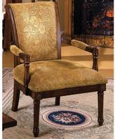 Home Decorators Collection Stockton Accent Chair in Antique Oak Finish