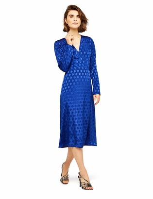 Find. Amazon Brand Women's Jacquard Long Sleeve Wrap Dress