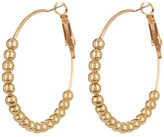 Natasha Accessories Medium Beaded Hoop Earrings