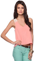 Style deals Crochet Back Top