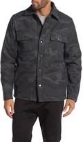 Slate & Stone Camo Print Fleece Lined Overshirt