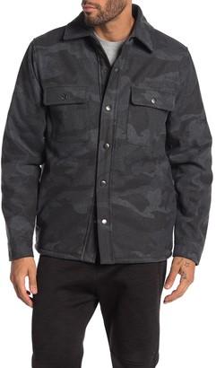 Slate & Stone Camo Print Fleece Lined Shirt Jacket