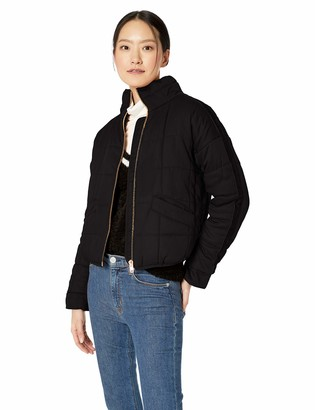AVEC LES FILLES Women's Curpo-Feel Quilted Flight Jacket
