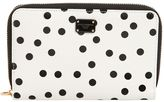 Dolce & Gabbana Small Polka Dot Leather Zip Wallet