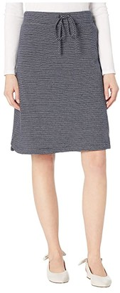 Mod-o-doc Double Stripe Jersey Pull-On Skirt (Navy) Women's Skirt