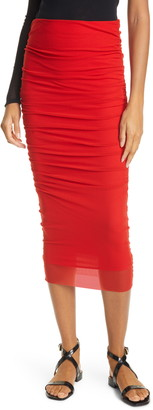 Fuzzi Ruched Tulle Skirt