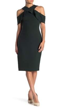 Rachel Roy Cold Shoulder Ruffle Sheath Dress