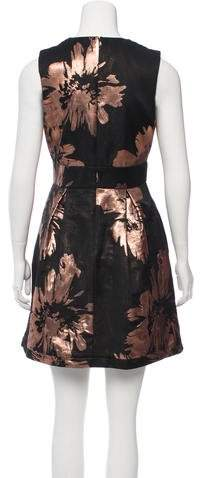 Nicole Miller Metallic Floral Print Dress w/ Tags