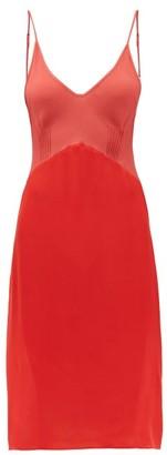 Araks Cadel Silk-crepe Slip Dress - Womens - Red Multi
