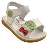 Toddler Girl's Wee Squeak Lollipop Sandal - White