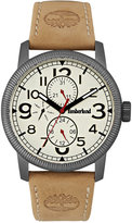 Timberland Men's Erving Tan Leather Strap Watch 44x50mm TBL14812JSU07