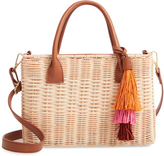 Nordstrom Anderson Wicker Crossbody Bag