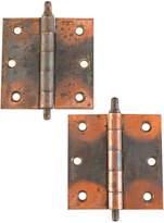 Rejuvenation Pair of 3 1/2 In Japanned Copper Hinges