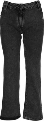 Off-White Off White Cropped Leg Denim