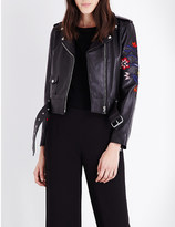 Sandro Pattie leather jacket