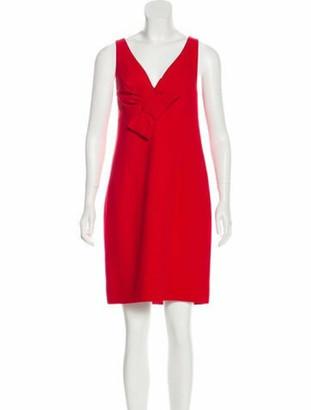 Valentino Sleeveless Mini Dress Red