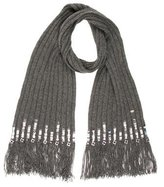 Chanel Sequined Knit Scarf