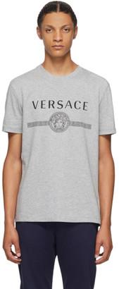 Versace Grey Medusa Logo T-Shirt
