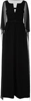 Dice Kayek Cape Back Maxi Dress
