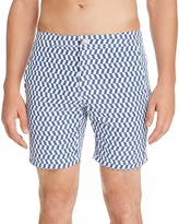 Onia Calder Zigzag Check Swim Trunks