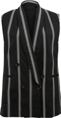 Brunello Cucinelli Striped Single Button Vest