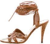 Roberto Cavalli Leather Tie Sandals