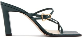 Wandler Yara Buckled Leather Sandals - Dark Green
