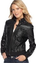 Jou Jou Jacket, Faux Leather Motorcycle