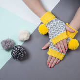 Lowie Yellow Graphic Fingerless