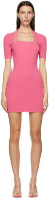 Balmain Pink Knit Viscose Dress